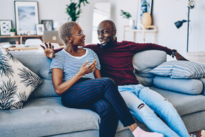 african-american-couple-communicating