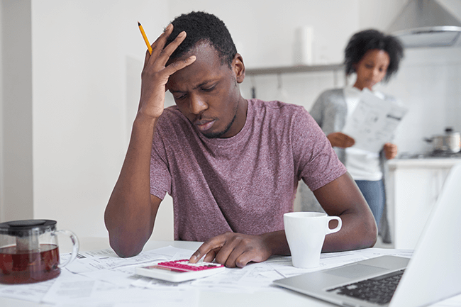 african-american-couple-stressing-over-finances