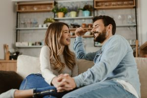 caucasian-couple-laughing-and-talking